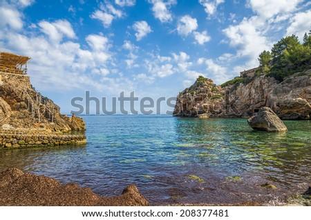 Cala Deia beach - stock photo