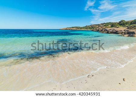 cala granu beach in Costa Smeralda, Italy - stock photo
