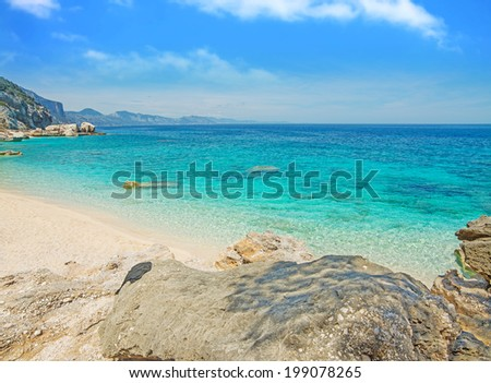 Cala Mariolu on a clear day, Sardinia