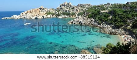 Cala Spinoza in Capo Testa, near the village of Santa Teresa di Gallura, in the northwestern coast of Sardinia. - stock photo