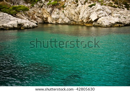 Calanques and lagoon near Marseille, France - stock photo