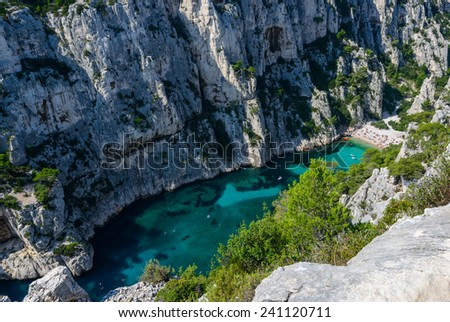Calanques near Cassis, Provence, South of France - stock photo