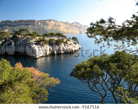 Calanques of Cassis, France - stock photo