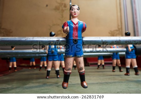 Calcetto soccer table toy - stock photo