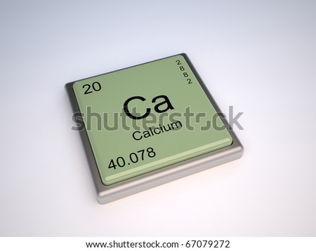 Calcium chemical element of the periodic table with symbol Ca - stock photo
