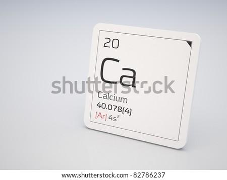 Calcium - element of the periodic table - stock photo