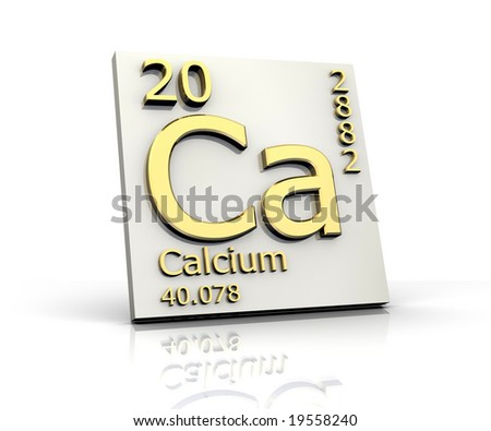 Calcium form Periodic Table of Elements - stock photo