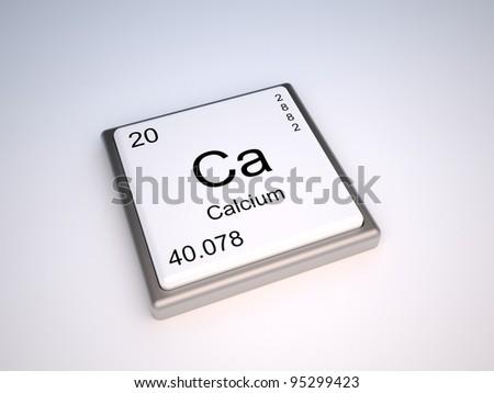Calcium from periodic table - stock photo