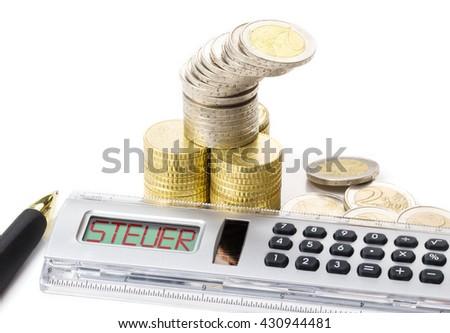 Calculate tax - stock photo
