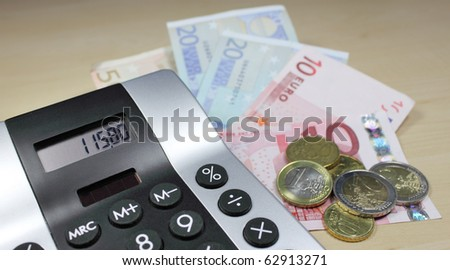calculate your money - stock photo