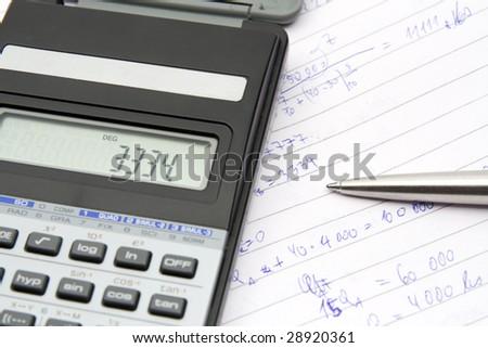 Calculating - stock photo