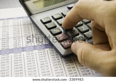 Calculating - stock photo