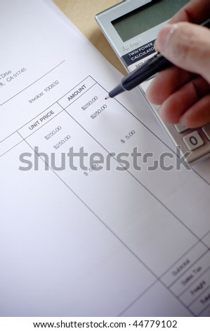 calculating amount - stock photo