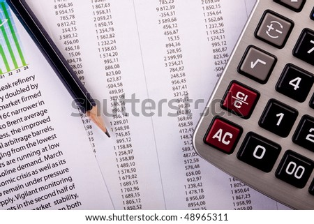 Calculating expenses - stock photo