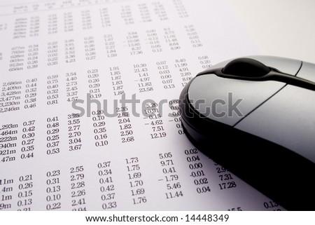 Calculating finances online - stock photo