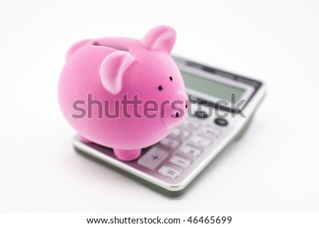 Calculating savings - stock photo
