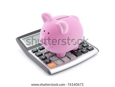 Calculating Savings - stock photo
