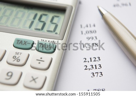 Calculating Tax Liability - stock photo