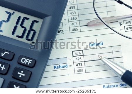 calculating tax refund