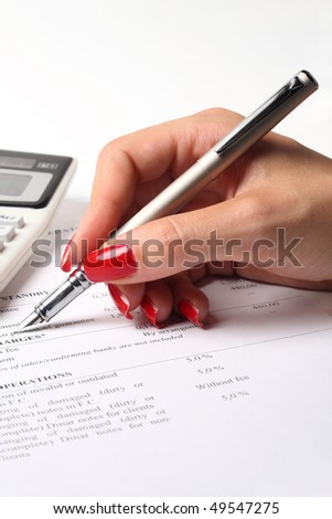 Calculation - stock photo
