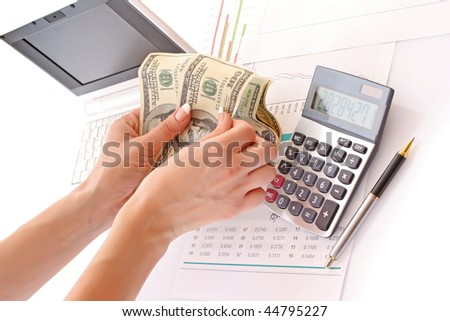 Calculation of financial growth and investment - stock photo