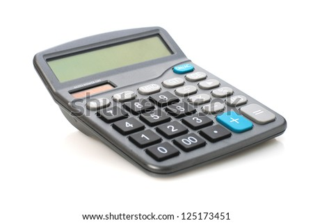 Calculator. - stock photo