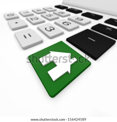 calculator and house - stock photo