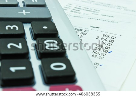 Calculator and Receipt