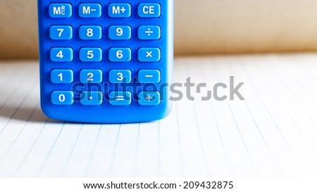 Calculator blue buttons ,Calculator buttons - stock photo