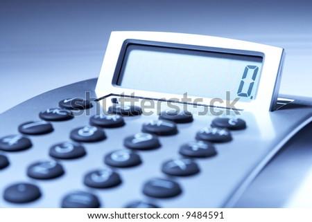 Calculator - Business accessories - stock photo