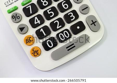 Calculator close up - stock photo
