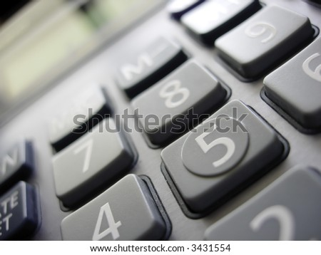 Calculator Close-up - stock photo