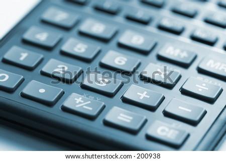 Calculator Control Panel - stock photo