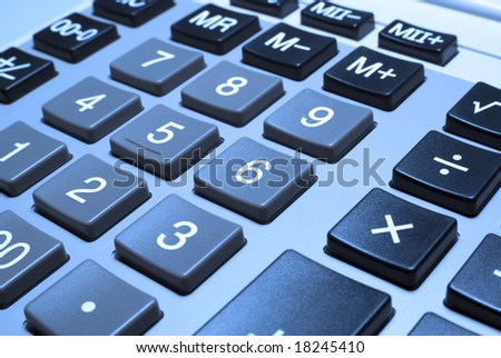 Calculator financial planning counting background. Close up finance calculator. Accounting calculating money machine. Tax audit calculations. Taxes money return, refund, save time. Business math count