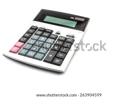 Calculator isolate on a white background