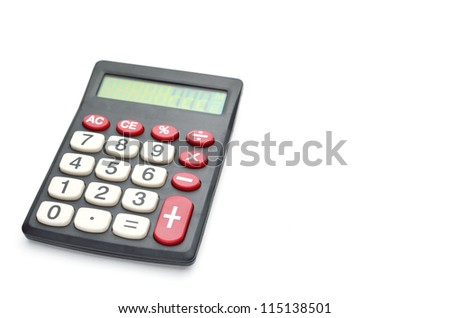 calculator isolated on a white background - stock photo
