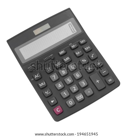 calculator isolated on white - stock photo
