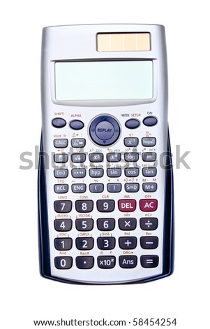 Calculator. Isolated on white. - stock photo
