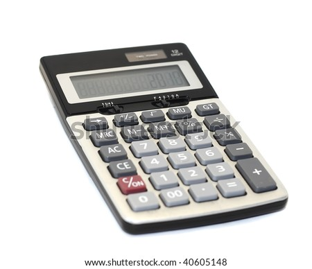 calculator isolated on white background - stock photo