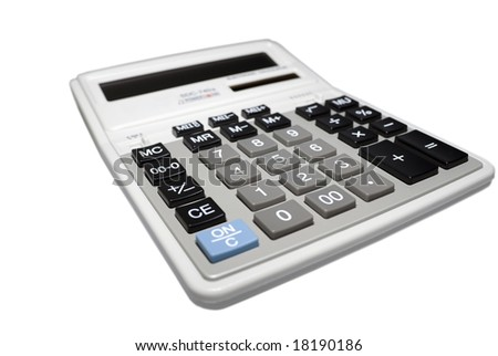Calculator isolated on white background. Clipping path.