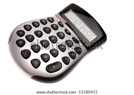 Calculator isolated over white background
