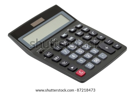 Calculator. Isolated with clipping path.