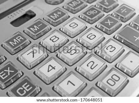 Calculator keyboard - stock photo
