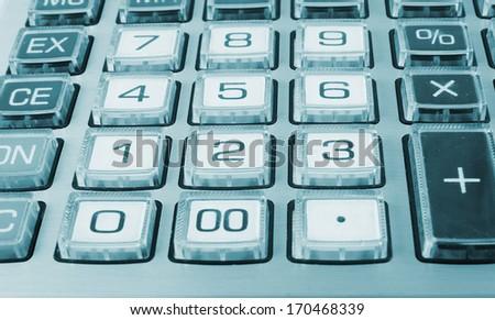 Calculator keyboard closeup