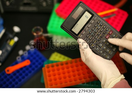 Calculator , laboratory, science, technology, testing,doctor - stock photo
