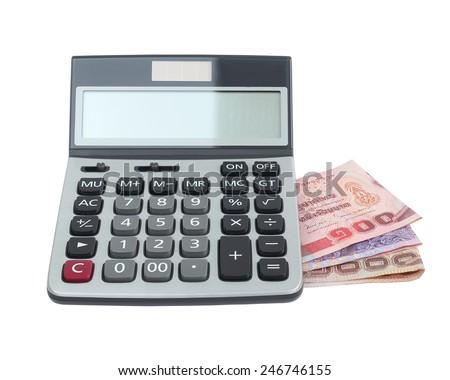 calculator money - stock photo