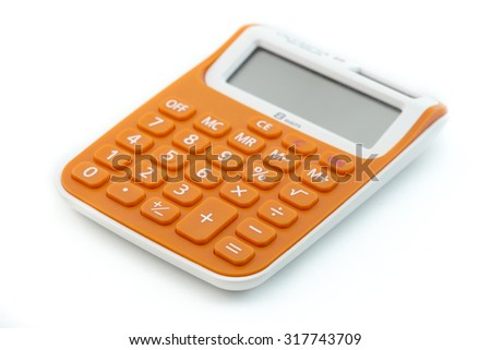 Calculator on a White Background - stock photo