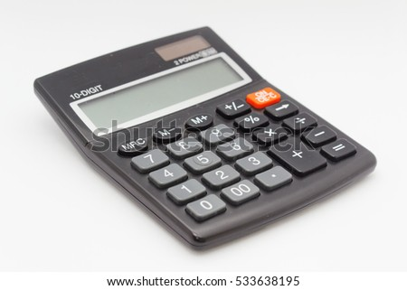 Calculator on isolated background