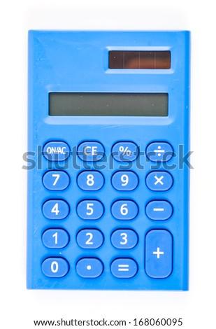 Calculator on isolated white background - stock photo