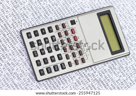 calculator on the white background - stock photo
